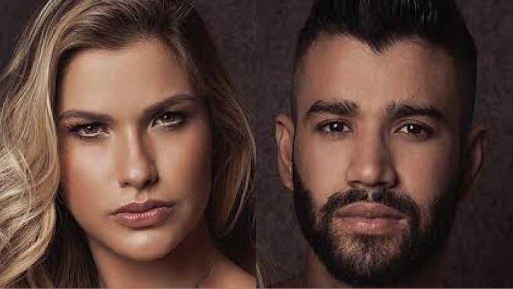 Andressa Suita e o cantor sertanejo Gusttavo Lima após anuncio de pausa na carreira (Foto: Divulgação)