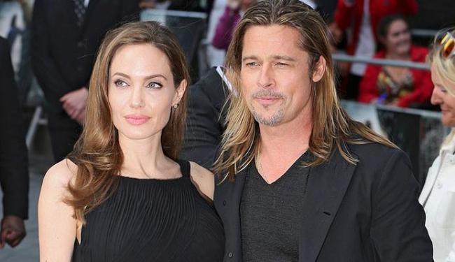 Casal Brad Pitt e Angelina Jolie (Foto: Reprodução)