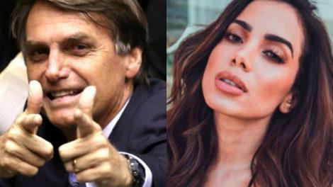 Anitta e Jair Bolsonaro se envolveram em mais uma polêmica (Foto: Reprodução)