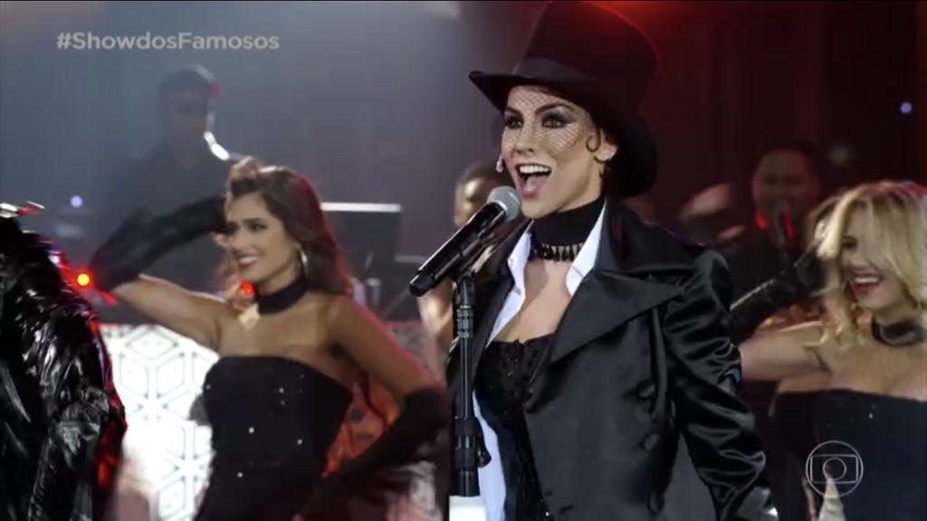 Mel Fronckowiack homenageou Shania Twain no Show dos Famosos (Foto: Reprodução/Globo)