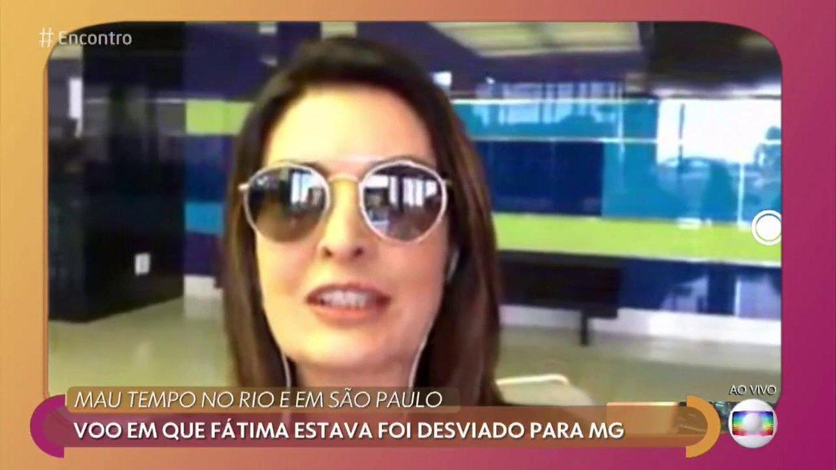 Patricia Poeta e Fátima Bernardes cara a cara na Globo (Foto: Reprodução)