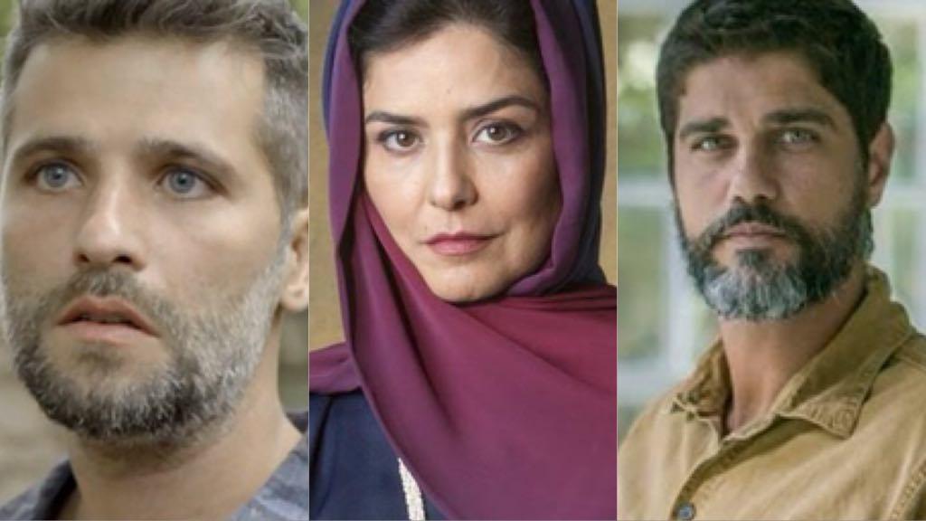 Gabriel de O Sétimo Guardião, Soraia e Hussein de Órfãos da Terra (Foto: Montagem TV Foco)