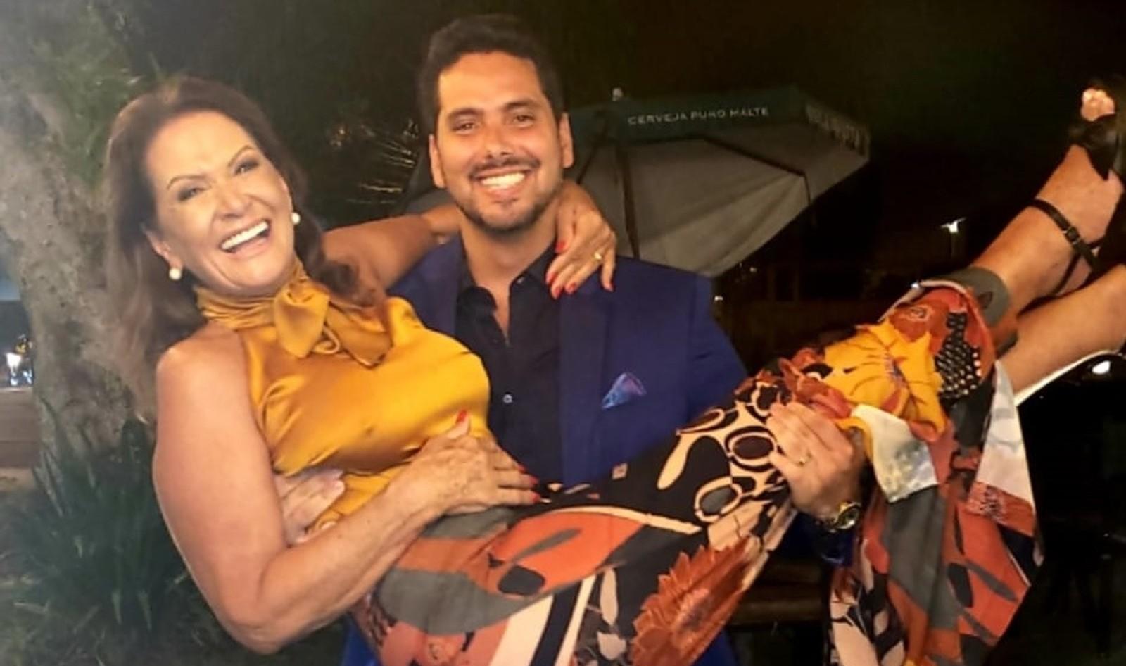 Ieda Wobeto e Marcelo Gomes (Foto: Reprodução/Instagram)