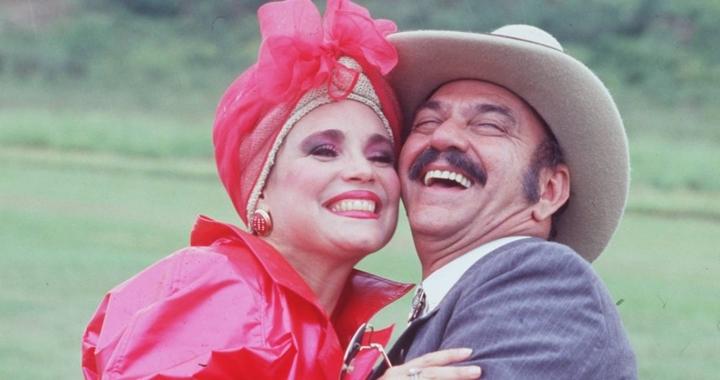 Viúva Porcina (Regina Duarte) e o Sinhozinho Malta (Lima Duarte) foram destaques em Roque Santeiro. (Foto: Divulgação)