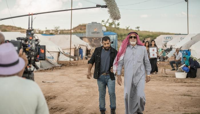 Kaysar Dadour e Herson Capri em gravação da novela das seis Órfãos da Terra (Foto: Globo/Paulo Belote)