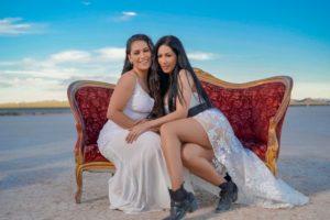 Simone e Simaria durante gravação de clipe em Las Vegas (Foto: Divulgação)