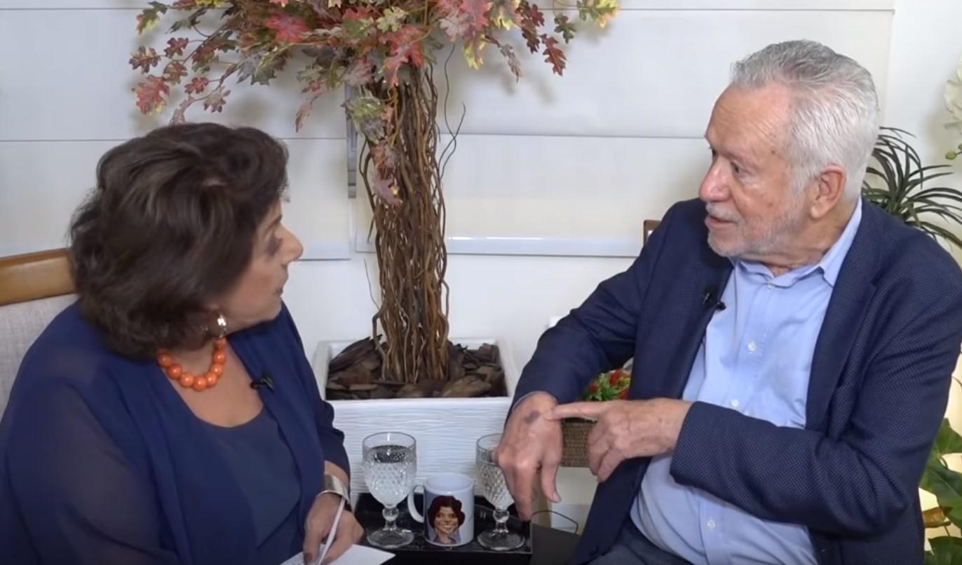 O jornalista Alexandre Garcia durante entrevista ao canal de Leda Nagle (Foto: Reprodução/YouTube)