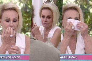 Ana Maria Braga ficou muito emocionada durante o Mais Você na Globo