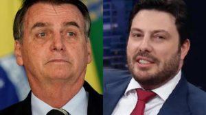 Jair Bolsonaro e Danilo Gentili (Foto: Reprodução/Montagem)