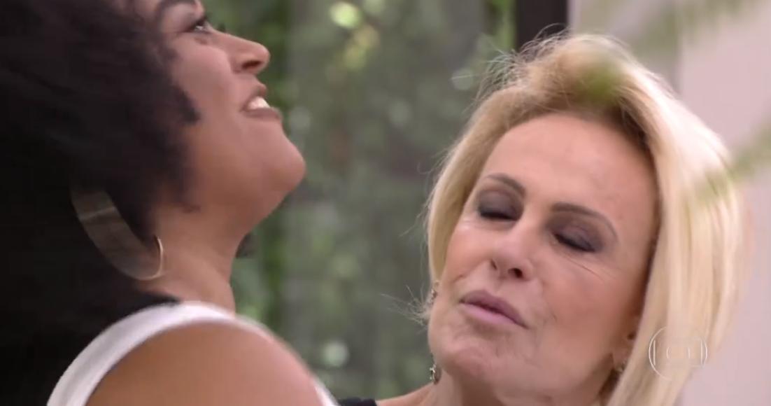Rízia e Ana Maria Braga na Globo (Foto: Reprodução)
