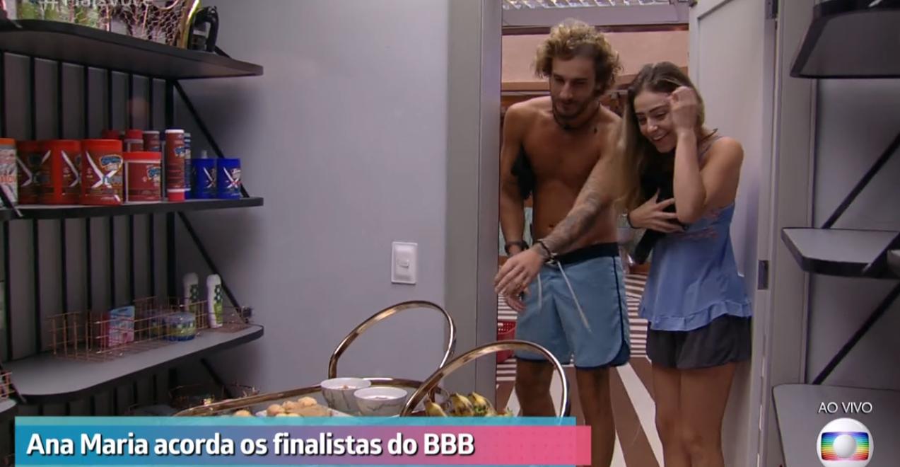 Alan e Paula atacaram o café da manhã na Globo (Foto: Reprodução)