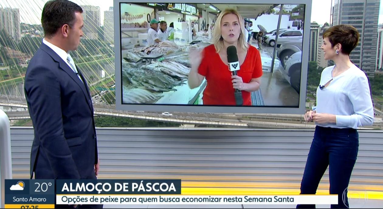 Jornalista ofereceu um namorado a Rodrigo Bocardi (Foto: Reprodução)