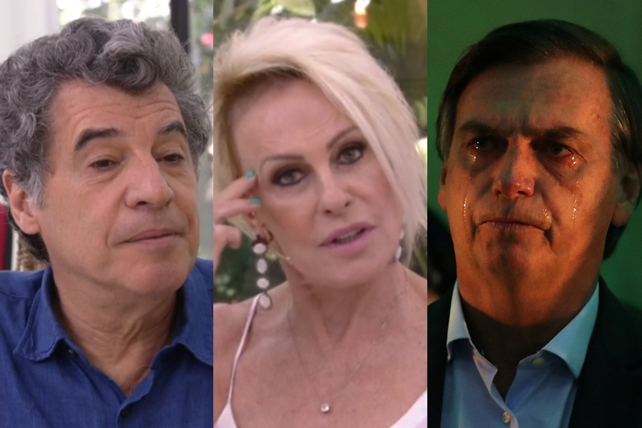 Paulo Betti, Ana Maria Braga e Jair Bolsonaro (Foto: Reprodução)