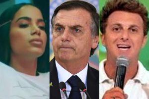 Anitta e Luciano Huck colocaram Bolsonaro contra a parede na Globo (Foto: Reprodução)