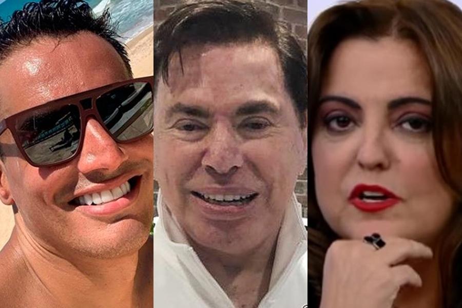 Leo Dias, Silvio Santos e Fabiola Reipert (Foto: Reprodução)