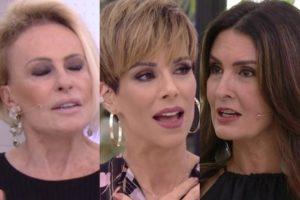 Ana Maria Braga, Ana Furtado e Fátima Bernardes na Globo (Foto: Reprodução)