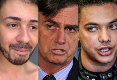 Carlinhos Maia, Jair Bolsonaro na Globo e Wesley Safadão (Foto: Reprodução)