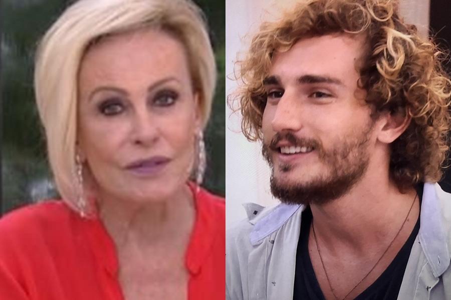 Ana Maria Braga e Alan na Globo (Foto: Reprodução)