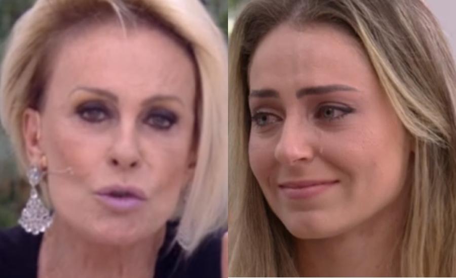 Ana Maria Braga e Paula na Globo (Foto: Reprodução)