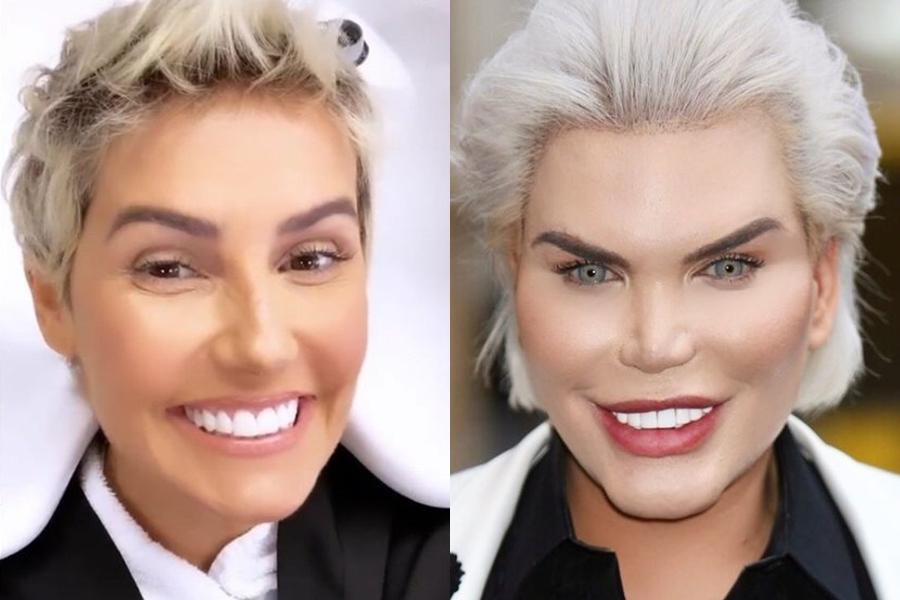 Deborah Secco foi comparada ao Ken Humano (Foto: Reprodução)