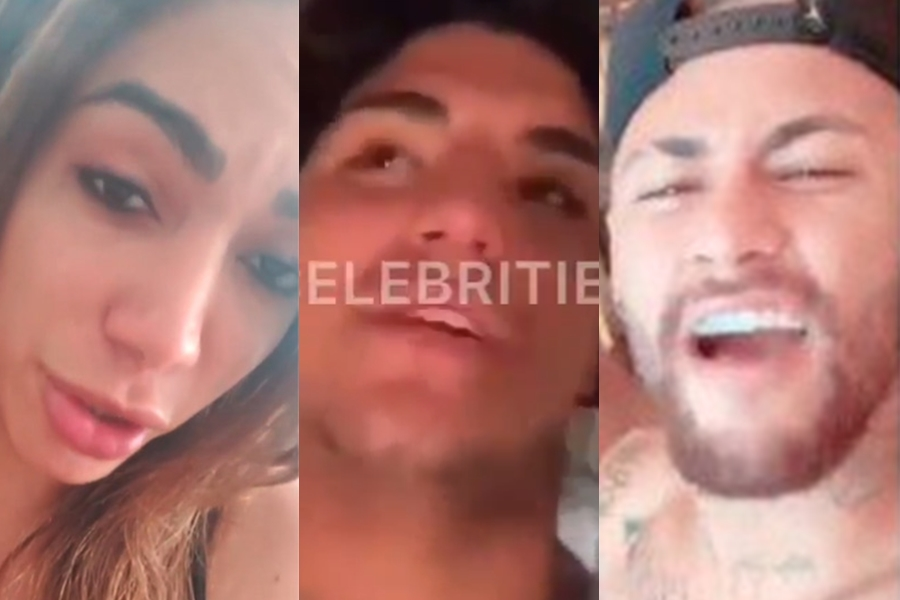Anitta, Medina e Neymar (Foto: Reprodução)