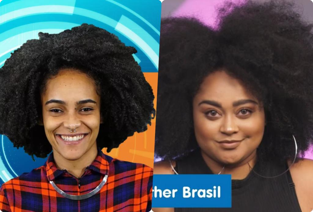 Gabi e Rizia estão no paredão do BBB19 da Globo (Foto montagem: TV Foco)