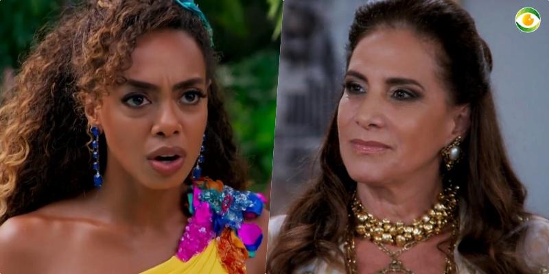 Dandara (Dandara Mariana) e Mercedes (Totia Meirelles) viverão em guerra em Verão 90
