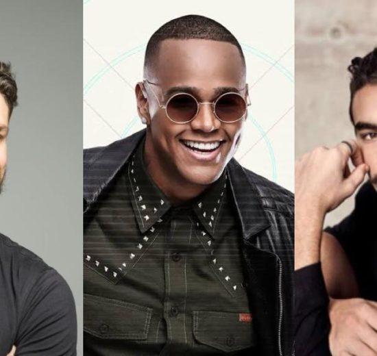 Cauã Reymond, Léo Santana e Bruno Montaleone (Foto: Montagem/TV Foco)