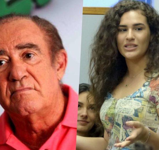 Renato Aragão, o Didi e a filha Livia Aragão (Foto montagem)