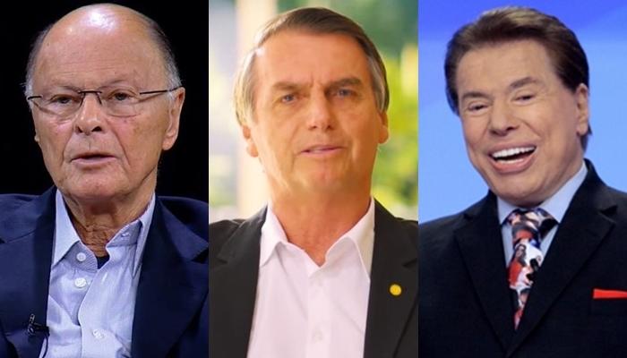 Edir Macedo, Jair Bolsonaro, Silvio Santos, Globo