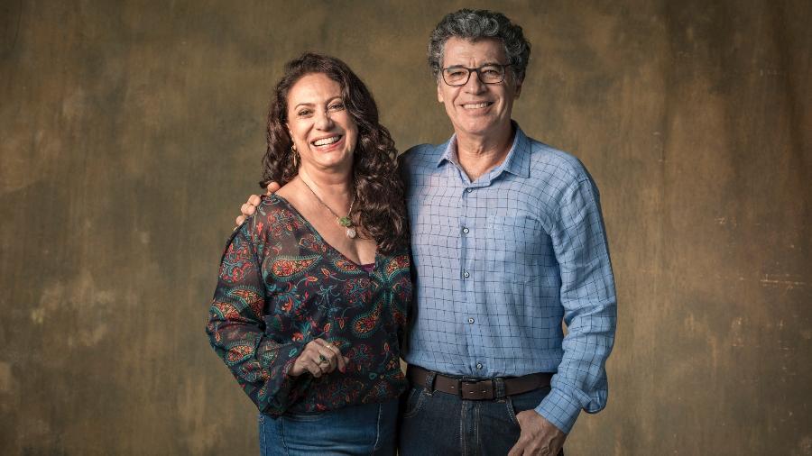 Eliane Giardini e Paulo Betti são casal em Órfãos da Terra (Foto: Divulgação)