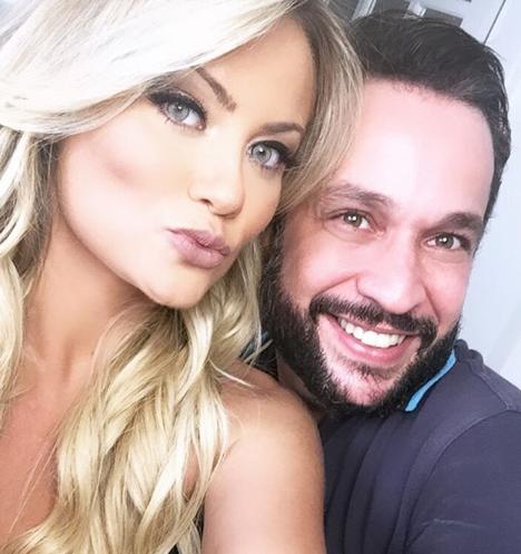 Ellen Rocche o ex-noivo Rogério Oliveira. (Foto: Reprodução/Instagram)