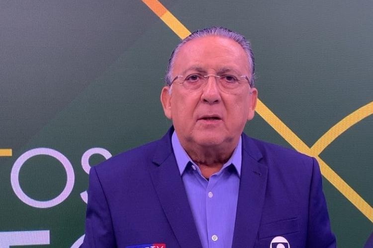 Galvão Bueno foi alvo dos jornalistas de O Grande Círculo, exibido na Globo (Foto: Divulgação)
