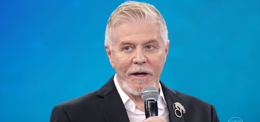 Miguel Falabella esteve no Arquivo Confidencial do Domingão do Faustão (Foto: TV Globo)