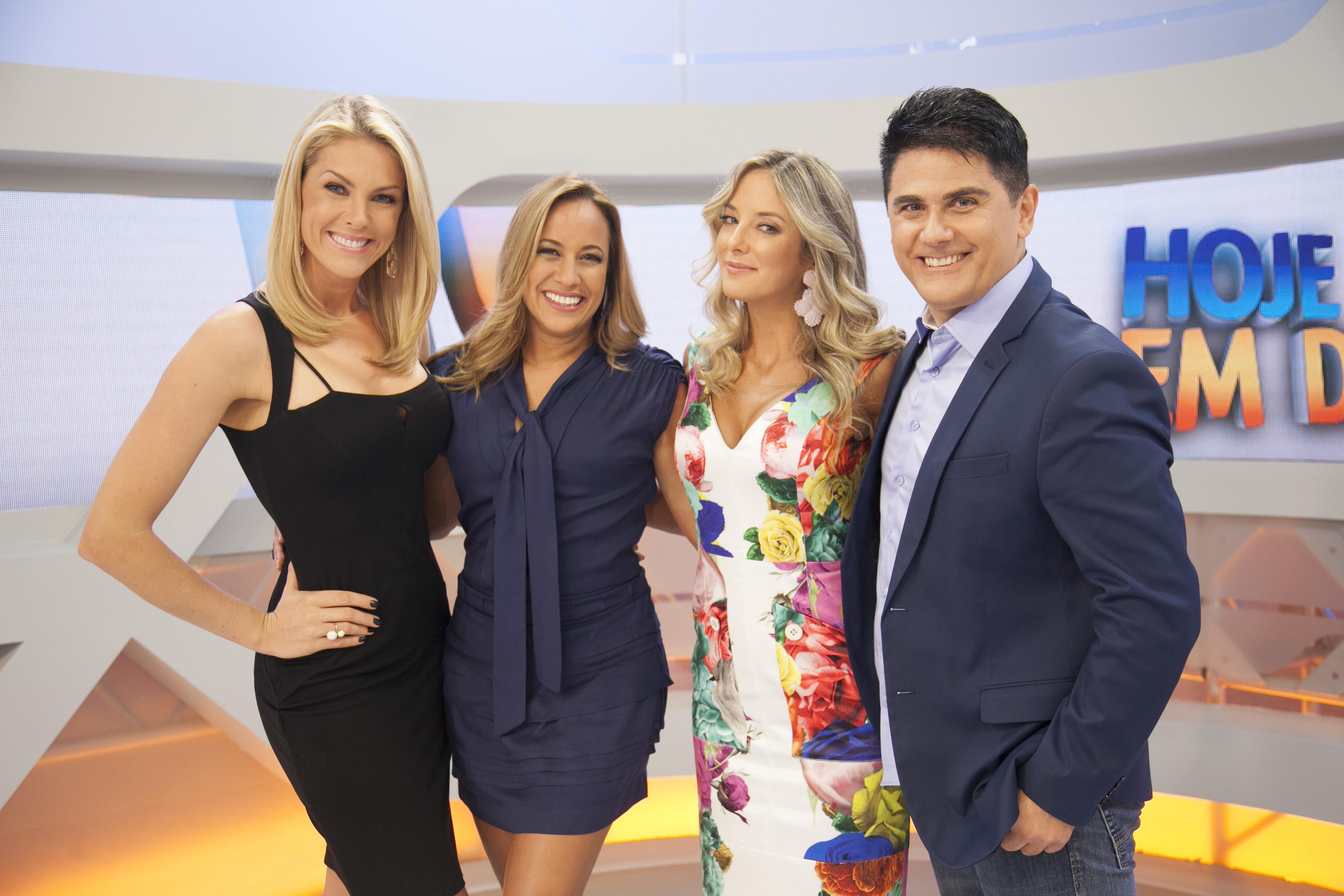 Os apresentadores do Hoje em Dia, programa matutino da Record (Foto: Divulgação/Record)