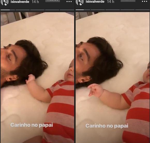 André Resende e Rael na rede social de Isis Valverde (Foto: Reprodução/ Instagram)