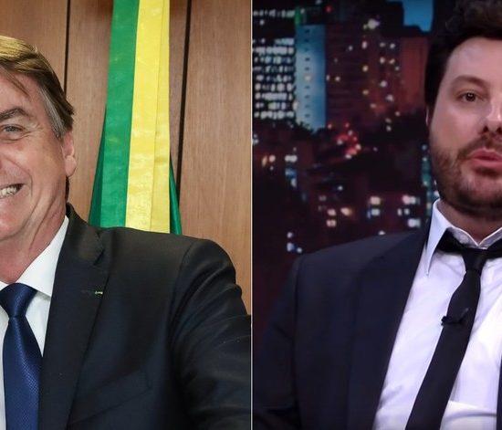 Jair Bolsonaro e Danilo Gentili (Foto: Divulgação)