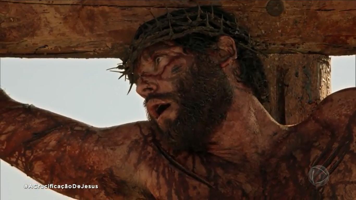 Dudu Azevedo é Jesus na novela bíblica de mesmo nome na Record. (Foto: Reprodução)