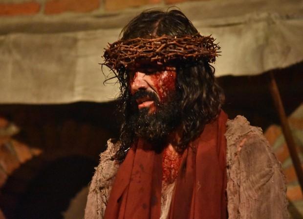 Juliano Cazarré como Jesus em Paixão de Cristo (Foto: Divulgação)