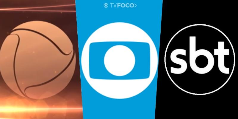 Logo das emissoras Globo, Record e SBT