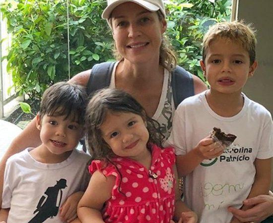 Luana Piovani com os filhos Dom, Liz e Bem (Foto: Reprodução/Instagram)