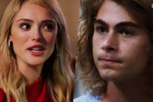 Manuzita (Isabelle Drummond) e João (Rafael Vitti) são protagonistas de Verão 90