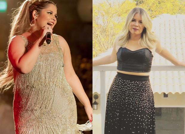 Antes e depois de Marília Mendonça (Foto: Divulgação)