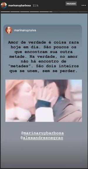 Marina Ruy Barbosa se decclara para o marido, Alexandre Negrão (Foto: Reprodução)