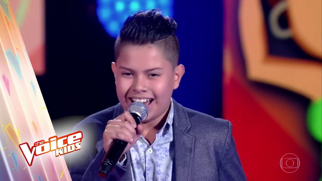 Nicolas Gabriel durante o The Voice Kids (Foto: Reprodução/Globo famosos