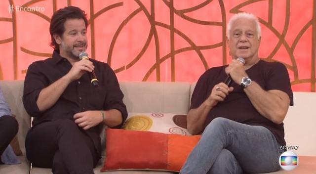 Murilo Benício e Antônio Fagundes no Encontro (Foto: Reprodução)
