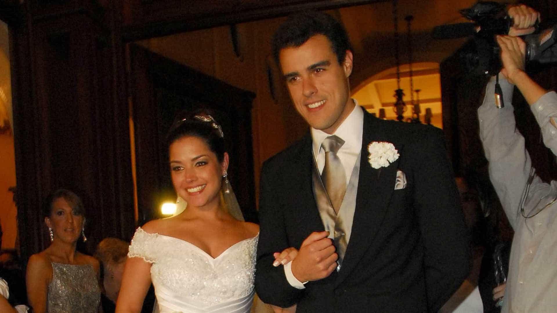 Thaís Fersoza e Joaquim Lopes no casamento (Foto: Reprodução)