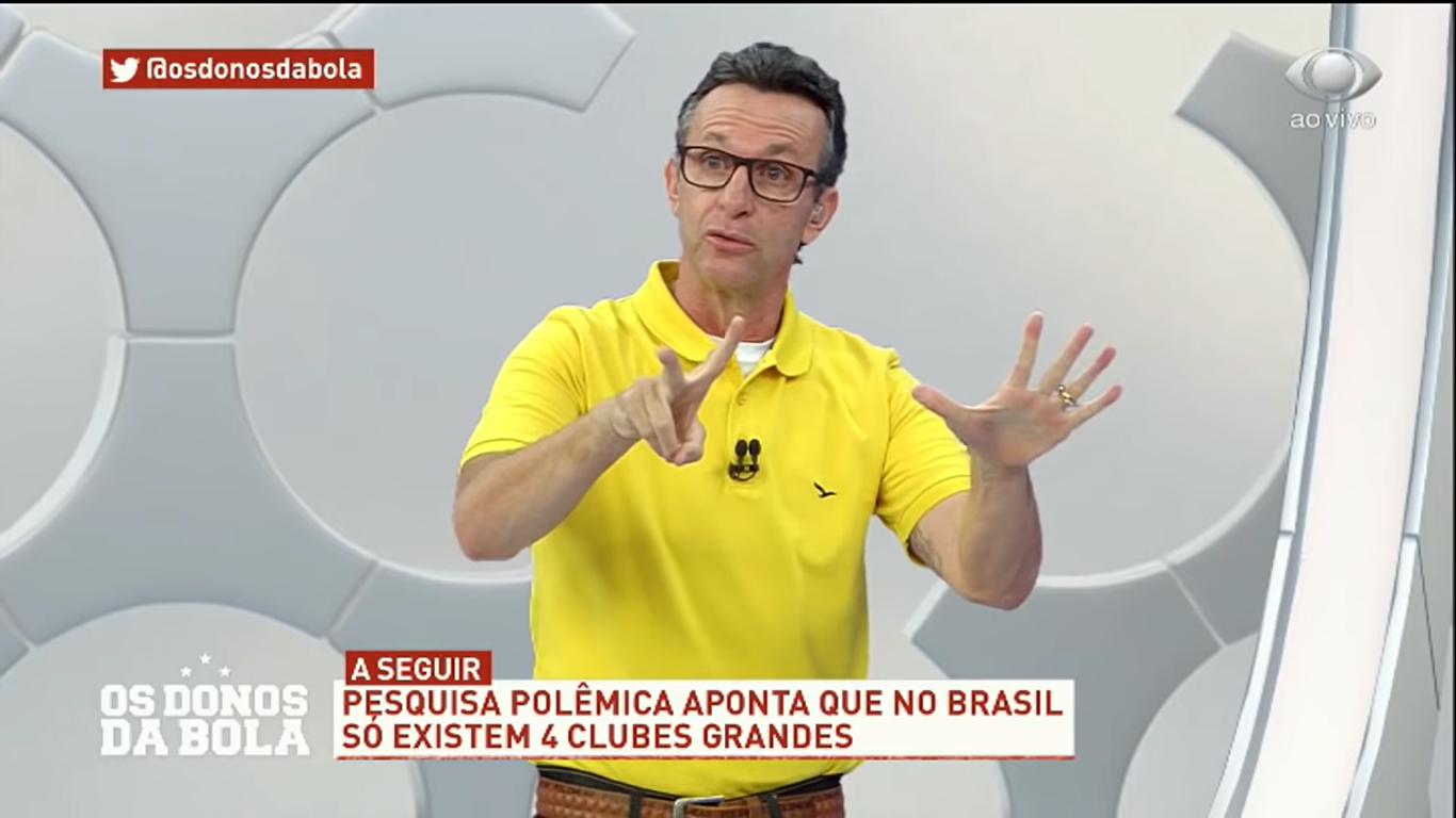O apresentador Neto, ídolo do Corinthians, mostrou-se surpreso com o tamanho do pênis de Pabllo Vittar (Foto: Reprodução)