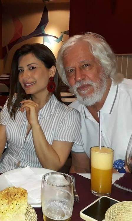 O ator Nuno Leal Maia, de 71 anos, falou sobre a profissão de ator em entrevista ao programa da RedeTV! Mariana Godoy Entrevista. Na foto, com a esposa Monica (Foto: Reprodução/ Instagram)