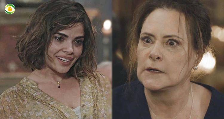Stela (Vanessa Giacomo) e Mirtes (Elizabeth Savalla) em O Sétimo Guardião